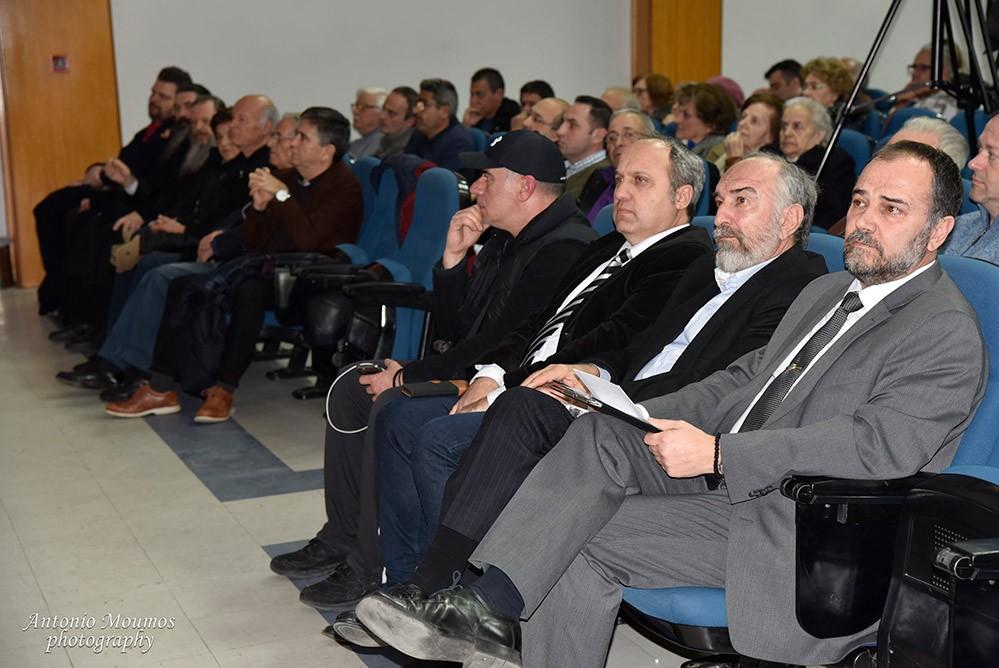 H Συμφωνία των Πρεσπών, οι συνέπειές της και οι πιθανότητες ακύρωσής της ήταν το θέμα της διάλεξης που οργάνωσε η Σχολή Γονέων Κατερίνης στο Πνευματικό Κέντρο ΕΚΑΒΗ ΤΟΥ Δήμου Κατερίνης. Ομιλητές ήταν ο δικηγόρος MSc Κανονικού Δικαίου κ. Νικόλαος Τσιρέλης και ο τ. Πρόεδρος Πανελλήνιας Ομοσπονδίας Πολιτιστικών Συλλόγων Μακεδόνων κ. Γεώργιος Τάτσιος.
